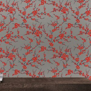 Cherry Blossom Custom Wallpaper Chinoiserie Collection