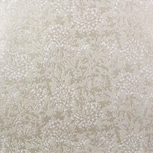 Dado Floral on Wheaten Custom Wallpaper