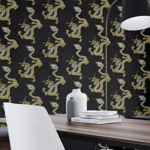 Dragons Custom Wallpaper Chinoiserie Collection