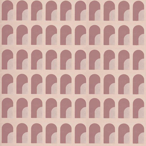 Palazzo on Pink Silk Slub Custom Wallpaper