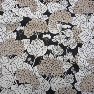 Hydrangeea handprinted fabric