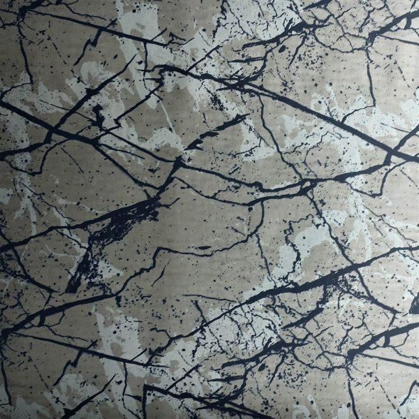 Marble on Gunmetal Custom Wallpaper