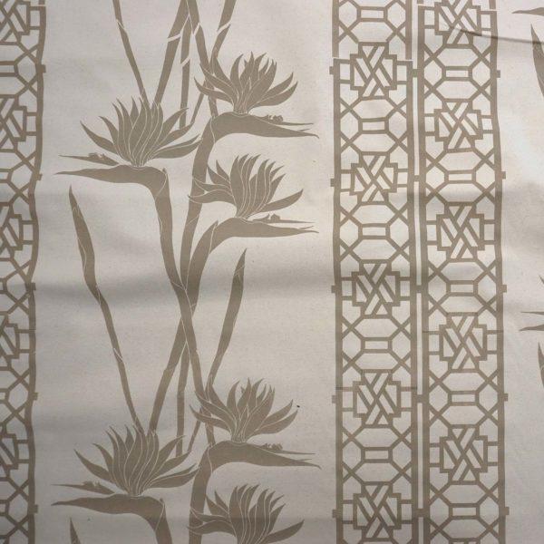 Strelitzia handprinted fabric