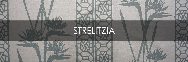 Strelitzia hand printed fabric