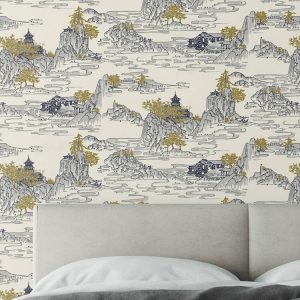 Summer Palace Custom Wallpaper Chinoiserie Collection