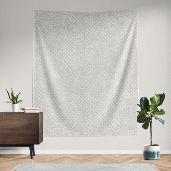 Treillage handprinted fabric