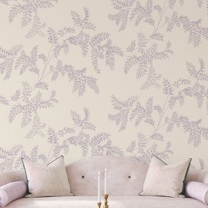 Wisteria Fern Custom Wallpaper Romance Collection