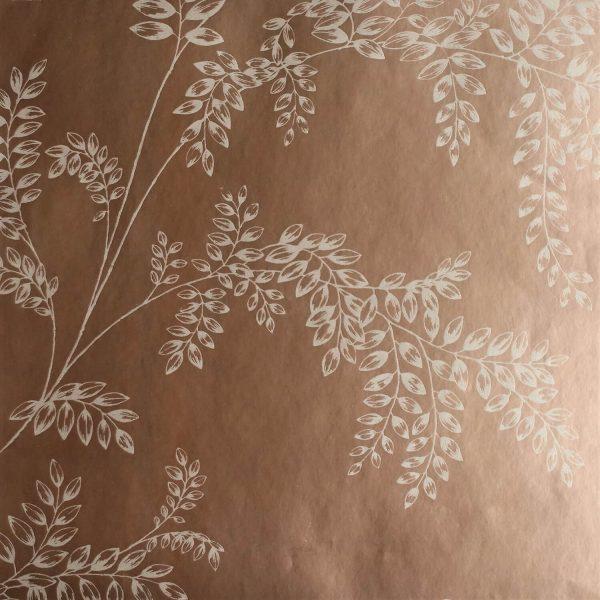 Wisteria Fern on Rose Custom Wallpaper