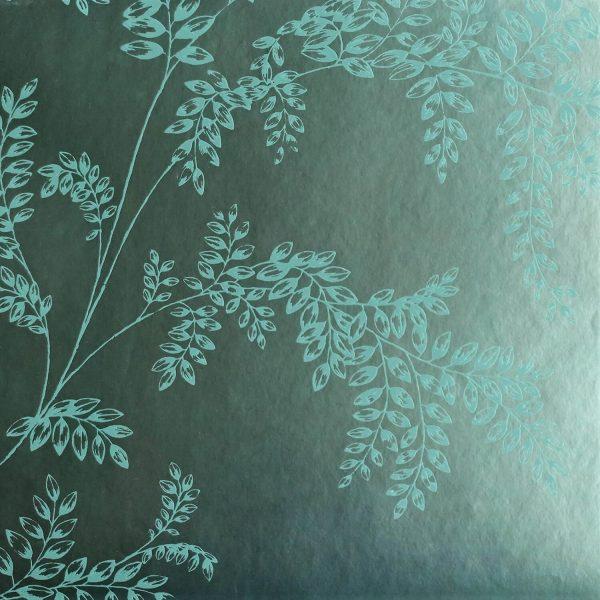 Wisteria Fern on Mint Custom Wallpaper