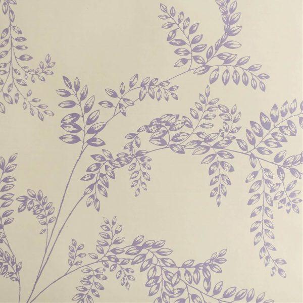Wisteria Fern on Wheaten Custom Wallpaper