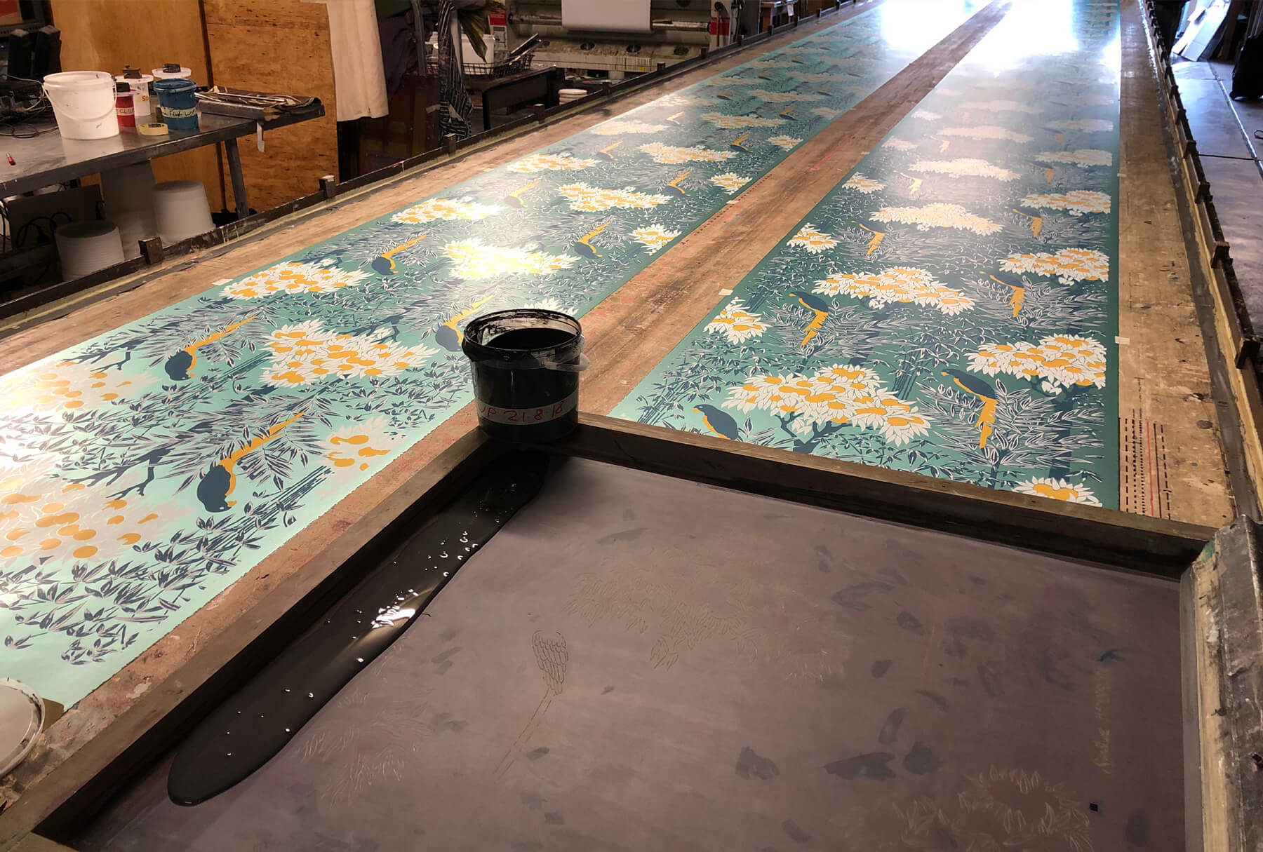 bespoke hand printed wallpaper and fabric